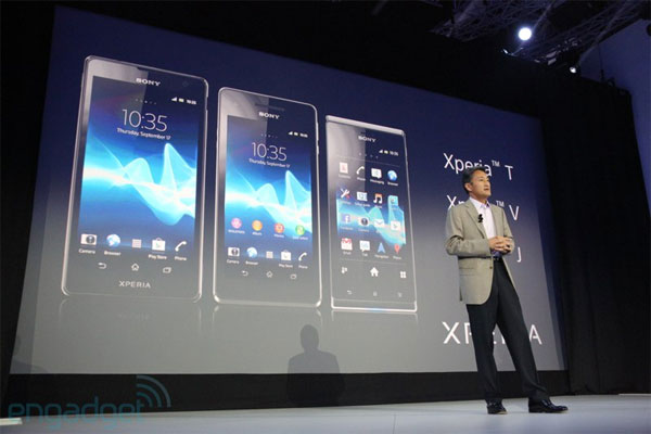 Sony annouces Xperia T,V, and J at IFA